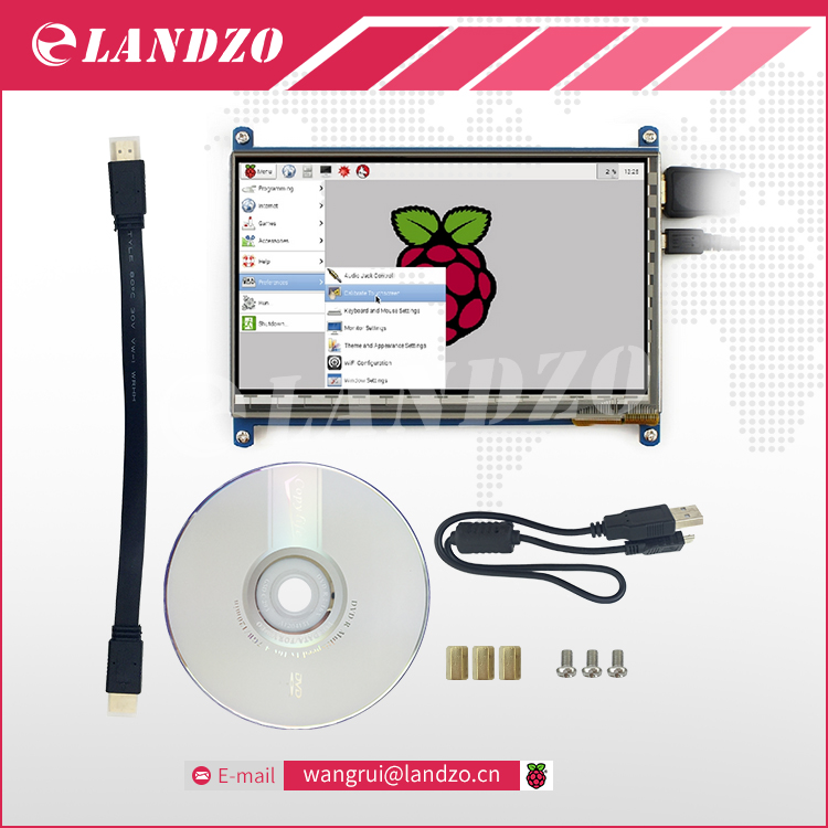 Raspberry Pi 3 Display HDMI 7 Inch 800 480 LCD with Touch Screen Monitor for Raspberry