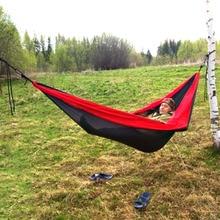 купить Outdoor Camping Hammock Sports Leisure Travel Hang Bed Double 2 Person camouflage Ultralight Travel Parachute Home Hammocks дешево
