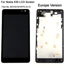 Original Display For Microsoft Nokia Lumia 535 N535 LCD Screen Touch Digitizer With Frame Full Assembly Europe Version CT2S1973