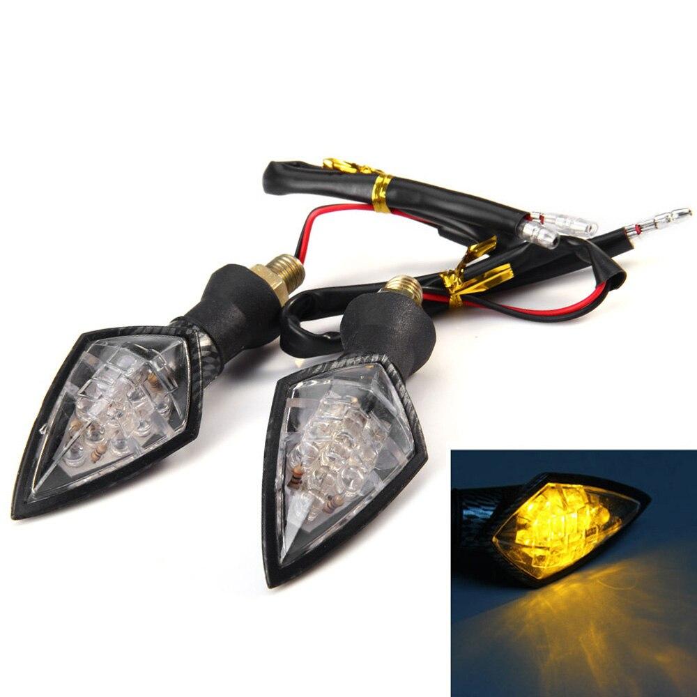 2pcs 10 Universal Motorcycle LED Turn Signal Indicators Light Lamp turn light indicator waterproof siganl