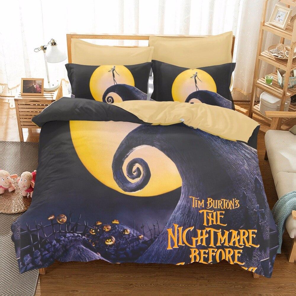 The Nightmare Before Christmas Jack Skellington Duvet Quilt Cover Bedding Set 3p Bedding Duvet Covers Bedding Sets