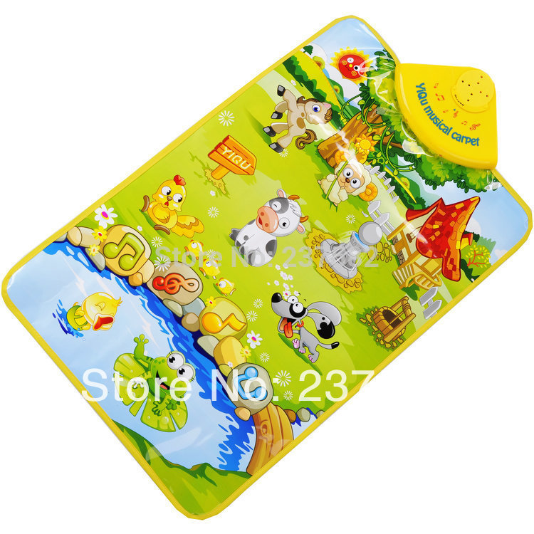 New <font><b>learn</b></font>&education Music Sound <font><b>Farm</b></font> Animal Touch baby Play Singing mat the baby gym <font><b>carpet</b></font> for children toy Free Shipping