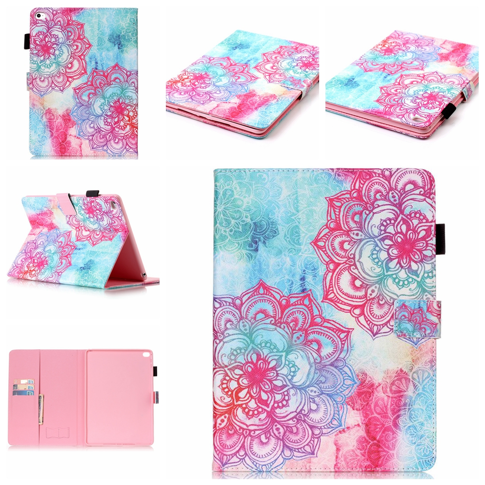 3D Painting big flower Pattern Flip pu leather case for Apple ipad pro 9.7 10.5 mini 2 3 ipad 2/3/4 air1 2 with card holder