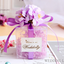 50 pcs/lot New European creative Multicolor Starry diamonds wedding candy box packaging Party Supplies Gift Box