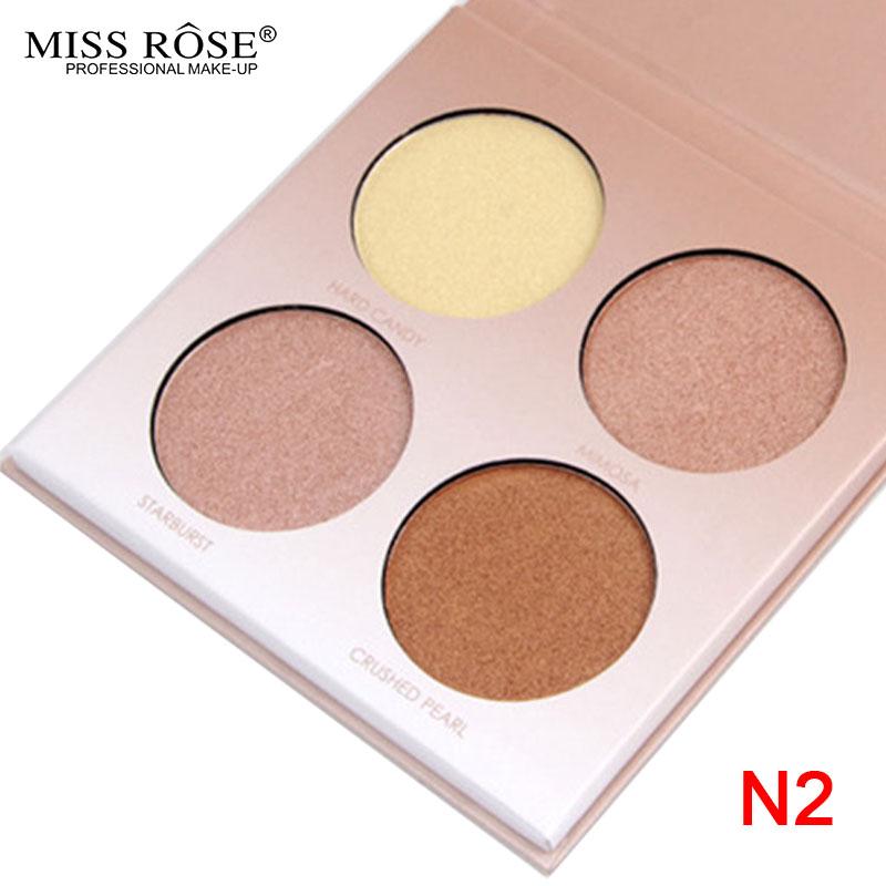 MISS ROSE GLEAM GOLDEN Glow kit Chocolate illuminator Birthday Edition Face Bronzer&Highlighter Concealer Contour Makeup Palette