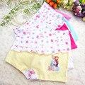 6 elsa anna unids/pack color al azar lindo dibujos animados para niños girls underwear princesa calzoncillos bragas para niños muchachas de los bebés niños