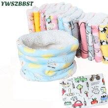 Новинка года; Плюшевые осенне-зимние детские шарфы; хлопковый Детский шарф с рисунком для мальчиков и девочек; бархатный шарф с круглым вырезом; детский шейный шарф
