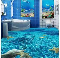 Tuỳ chỉnh ảnh sàn Không Thấm Nước hình nền Rõ Ràng nước nhà vệ sinh phòng tắm phòng ngủ 3d bức tranh tường PVC nền tự-độ bám dính tầng wallpaer