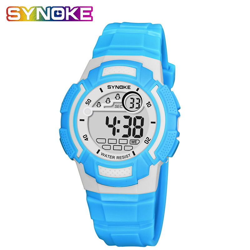 SYNOKE Silicone Children's Watch Boy Watches Children Digital Colorful 50M Waterproof Child's Gift relogio infantil menino(China)