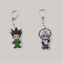 4 Styles Acrylic Keychain Anime HUNTER HUNTER GON FREECSS  Killua Zoldyck Transparent Double sided Pendant Keychain 55mm