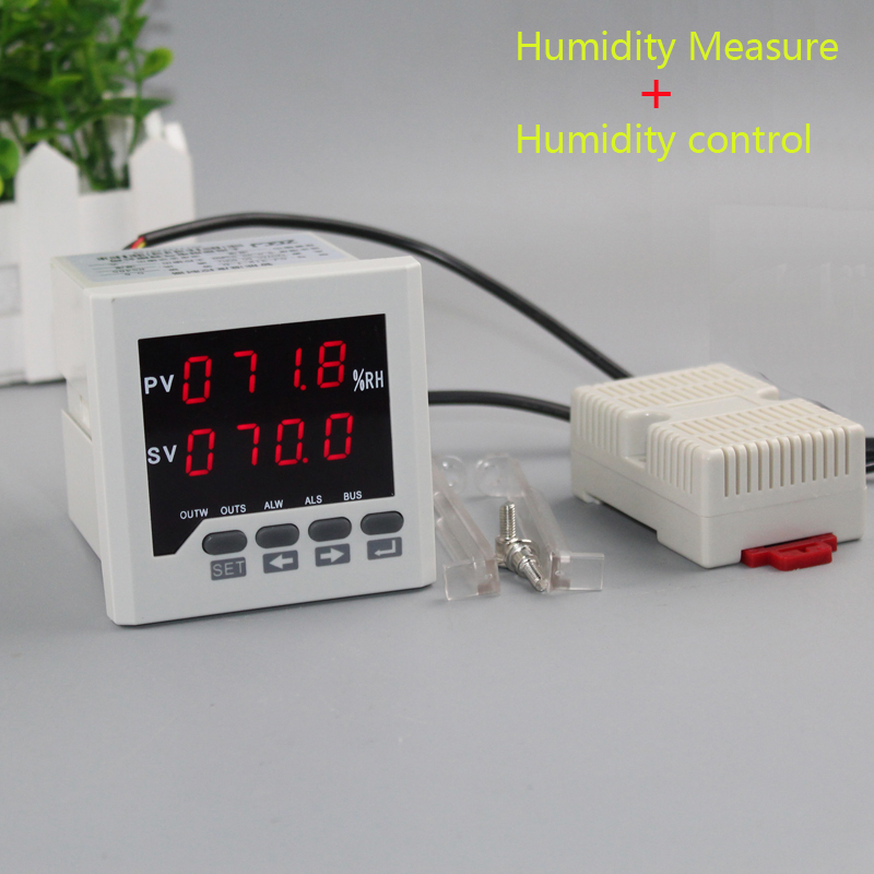 Humidity Controller LED Digital 0-99.9%RH Humidity Moisture Panel Meter Humidity Meter With Relay Output Include Humidity Sensor