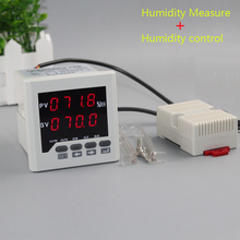 Humidity Controller LED digital 0-99.9%RH Humidity moisture panel meter humidity meter with relay output include humidity sensor 1% 99% rh humidity controller 220v 10a digital hygrometer with humidity sensor high accuracy for home industry