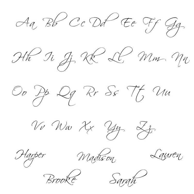 Kobiety mężczyźni spersonalizowane skrypt styl nazwa wisiorek naszyjniki dostosować Cursive tabliczka z napisem Choker naszyjnik druhna prezent dla niej