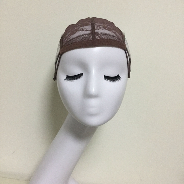 Brown Glueless Lace Wig Cap For Making Wigs With Adjustable Straps Weaving Caps For Women Hair Net & Hairnets Easycap  6017 1
