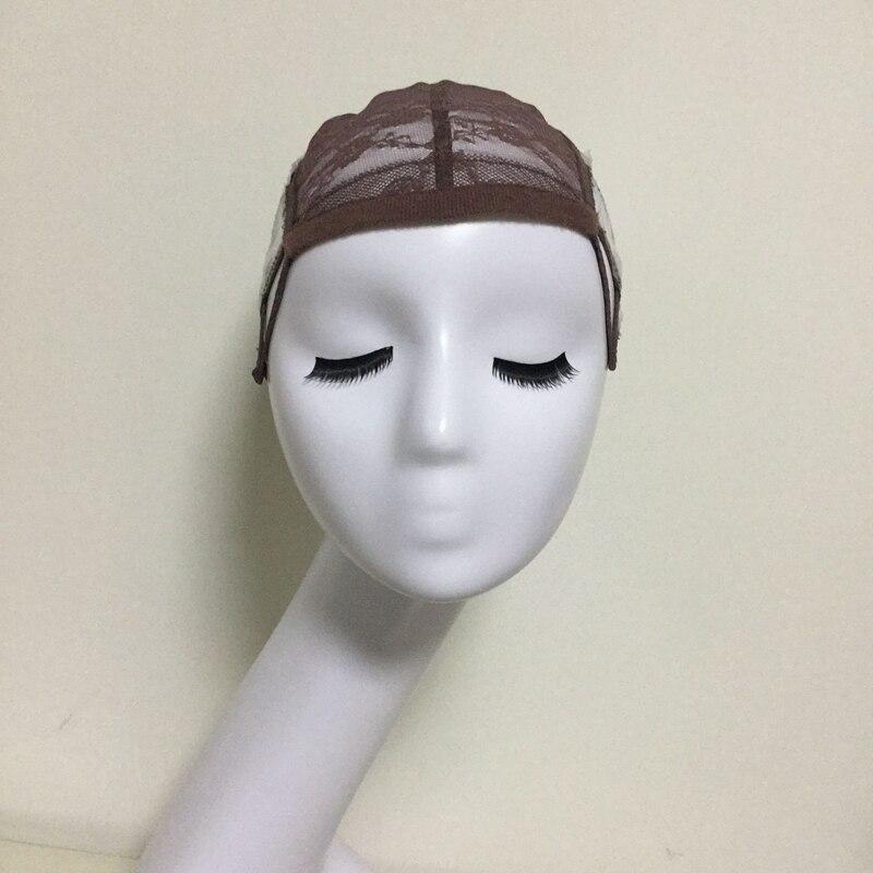 조정 가능한 스트랩과 가발을 만들기위한 브라운 Glueless 레이스 가발 모자 여성용 헤어 네트 & Hairnets Easycap 6017에 대 한 모자를 짜 다