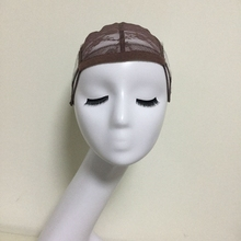 Brown Glueless Lace Wig Cap For Making Wigs With Adjustable Straps Weaving Caps For Women Hair Net & Hairnets Easycap 6017