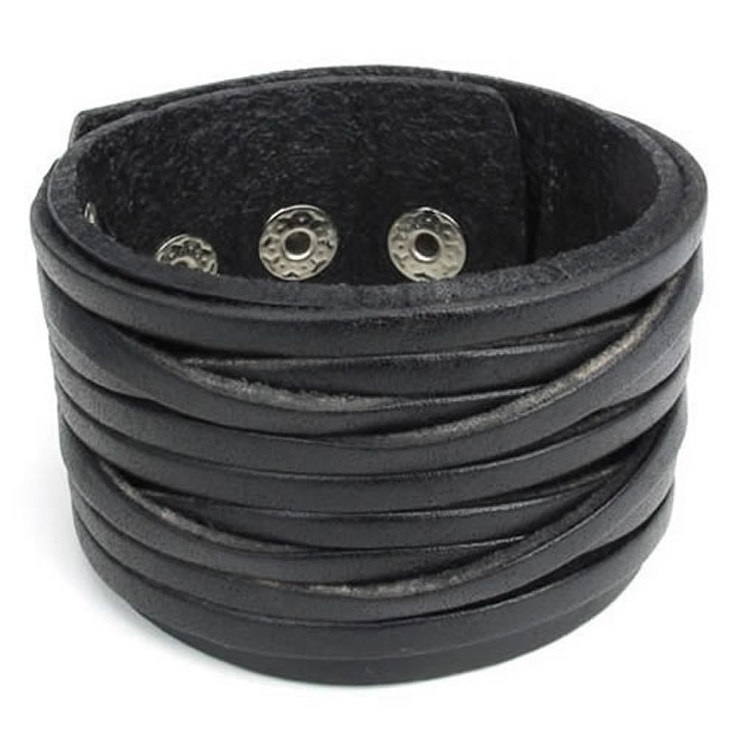 Wide Genuine Leather Mens...