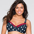 Victoria's Masquerade Big Size Top Cotton Bra Women Supporting Brassiere Sexy Lace Polka Dot Full Cup Wide Straps Big Breasts