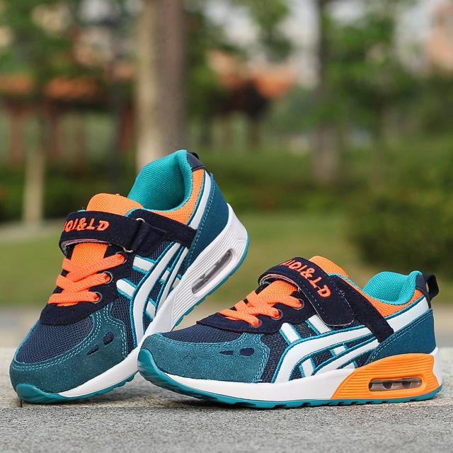 Nuevo Diseño Niños zapatos deportivos chicos y chicas colchón de aire zapatos de los niños cómodos zapatillas niño zapatos para correr Tamaño 26-37
