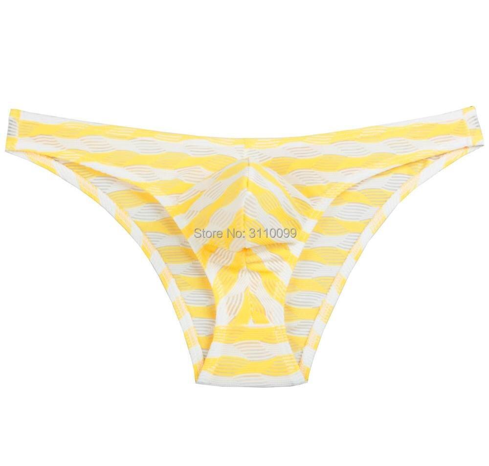Sexy Ripples Pattern Striped Mens Underwear Briefs Male Underpants Popular Design Fashion Men Brief Bluge Pouch Calzoncillos