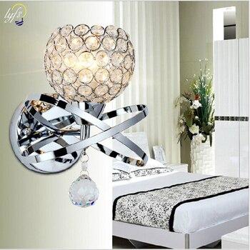 Lyfs decoración de Arte Moderno Chapado en acero inoxidable LED lámpara de pared de cristal iluminación de pared del dormitorio de la pared del hogar