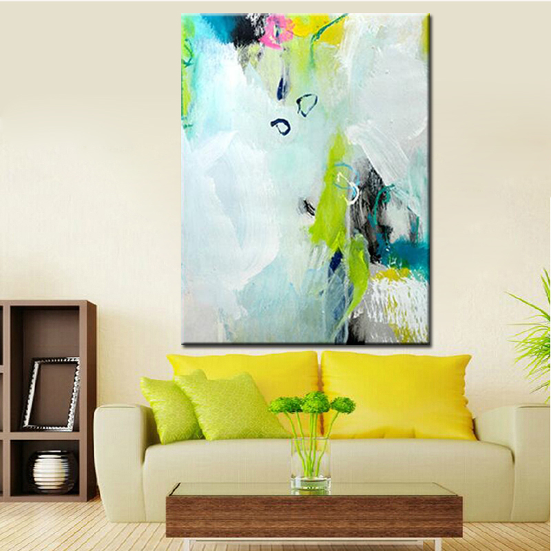Hand Painted Simple Abstract Oil Paintings Modern Art Colors for Living Room Wall Decoration Pictures Unframed Canvas Wall ArtHand Painted Simple Abstract Oil Paintings Modern Art Colors for Living Room Wall Decoration Pictures Unframed Canvas Wall Art
