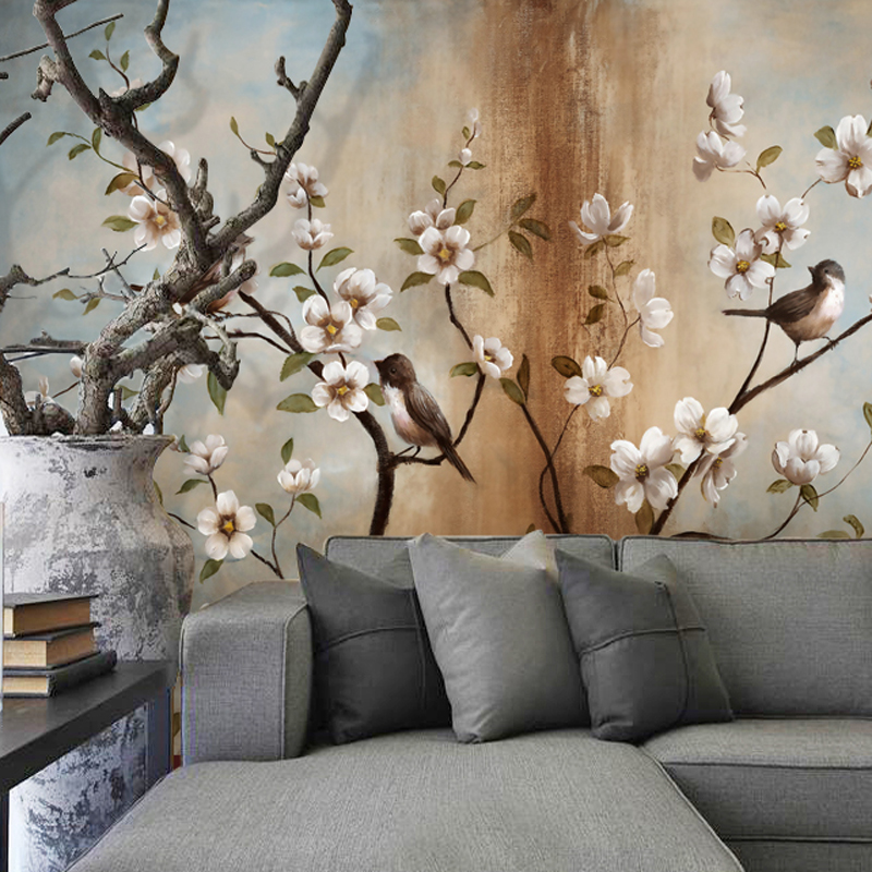 Customize Any Size 3D Wallpaper Mural Stereoscopic Relief Flower Tree Living Room Bedroom TV Background Wall Decoration Mural book knowledge power channel creative 3d large mural wallpaper 3d bedroom living room tv backdrop painting wallpaper