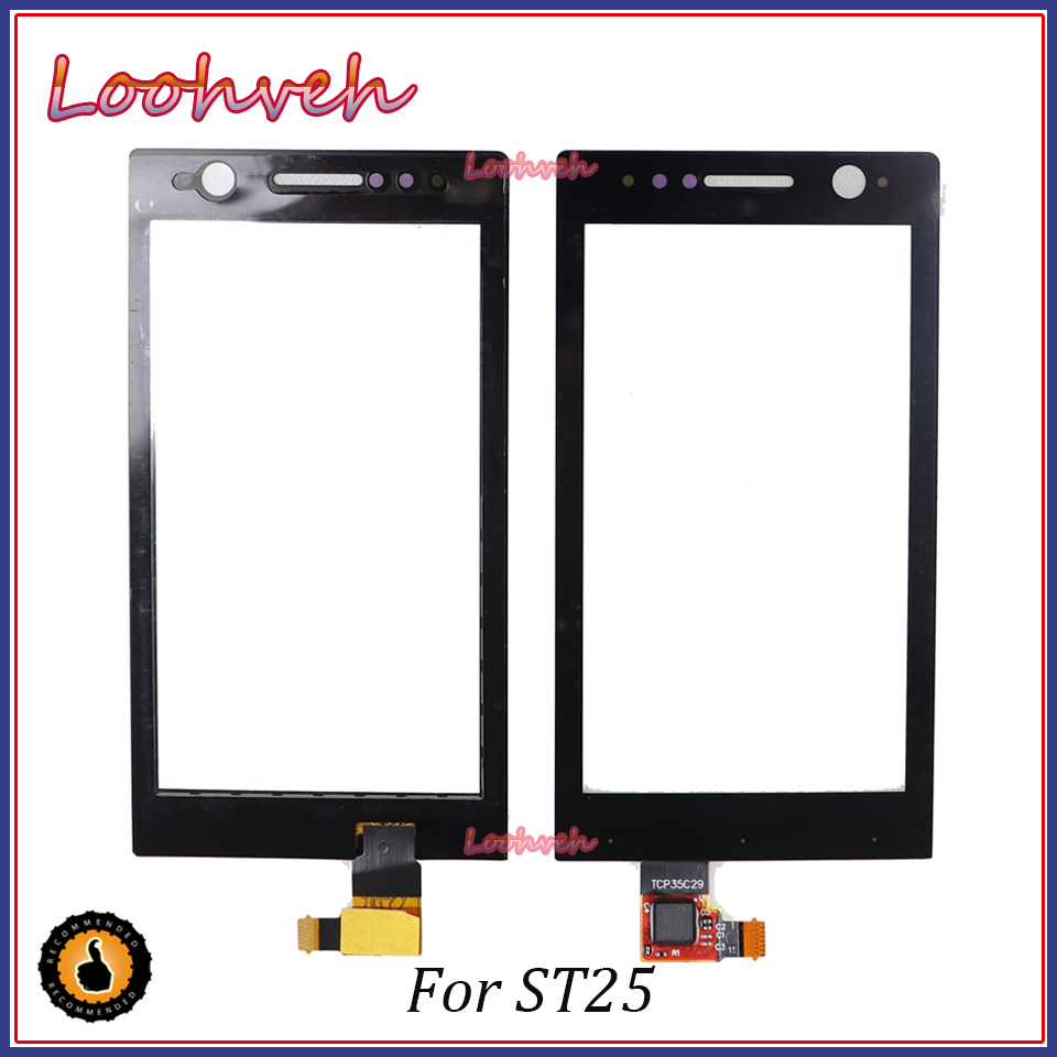 High Quality 3.5'' For <font><b>Sony</b></font> Xperia ST25i <font><b>ST25</b></font> ST25a Touch Screen Panel Sensor Digitizer Outer Glass Lens image