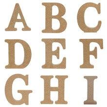 1 шт. 10 см X 10 см Стоячие Свадебные украшения деревянные буквы Английский алфавит DIY имя дизайн ручной работы украшения ремесла аксессуары