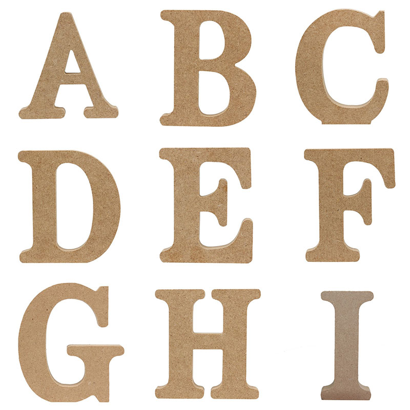 1Pc 10CMX10CM Standing Wedding Decoration Wooden Letter English Alphabet DIY Name Design Handcrafts Ornaments Crafts Accessories