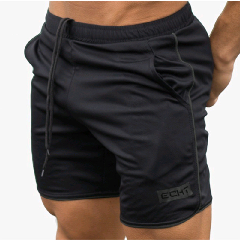 Men Fitness Bodybuilding Shorts Man Casual  Workout Male Breathable Mesh Quick Dry Sportswear Jogger Beach Short Pants