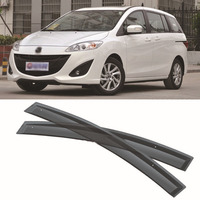 Jinke 4pcs Blade Side Windows Deflectors Door Sun Visor Shield For Mazda 5 2008 2013