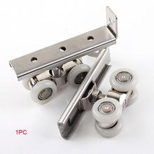 Нержавеющая сталь для раздвижных дверей Мишка 30 кг дома номер деревянный ящик для шкафа навешивания двери колеса для мебели оборудование, колесо
