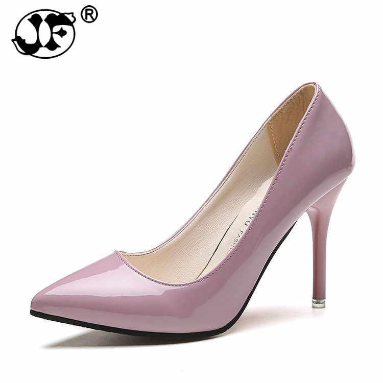 Primavera e autunno nuove signore tacco alto bene con albicocca scarpe a punta della bocca poco profonda delle donne selvaggio sexy donne nude scarpe da yuj89
