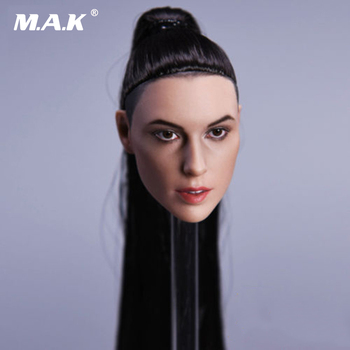 цена на 1/6 Scale Wonder Woman Gal Gadot Head Model with Straight Long Hair for 12 inches Female Action Figure