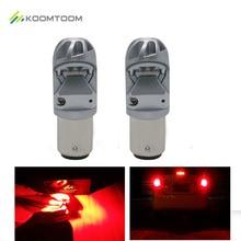 K10 1157 Bake Light Red Light LED Bulb Fog Lights for Auto Lamps 400LM PER 800LM SETS 12V – 24V Soul CSP