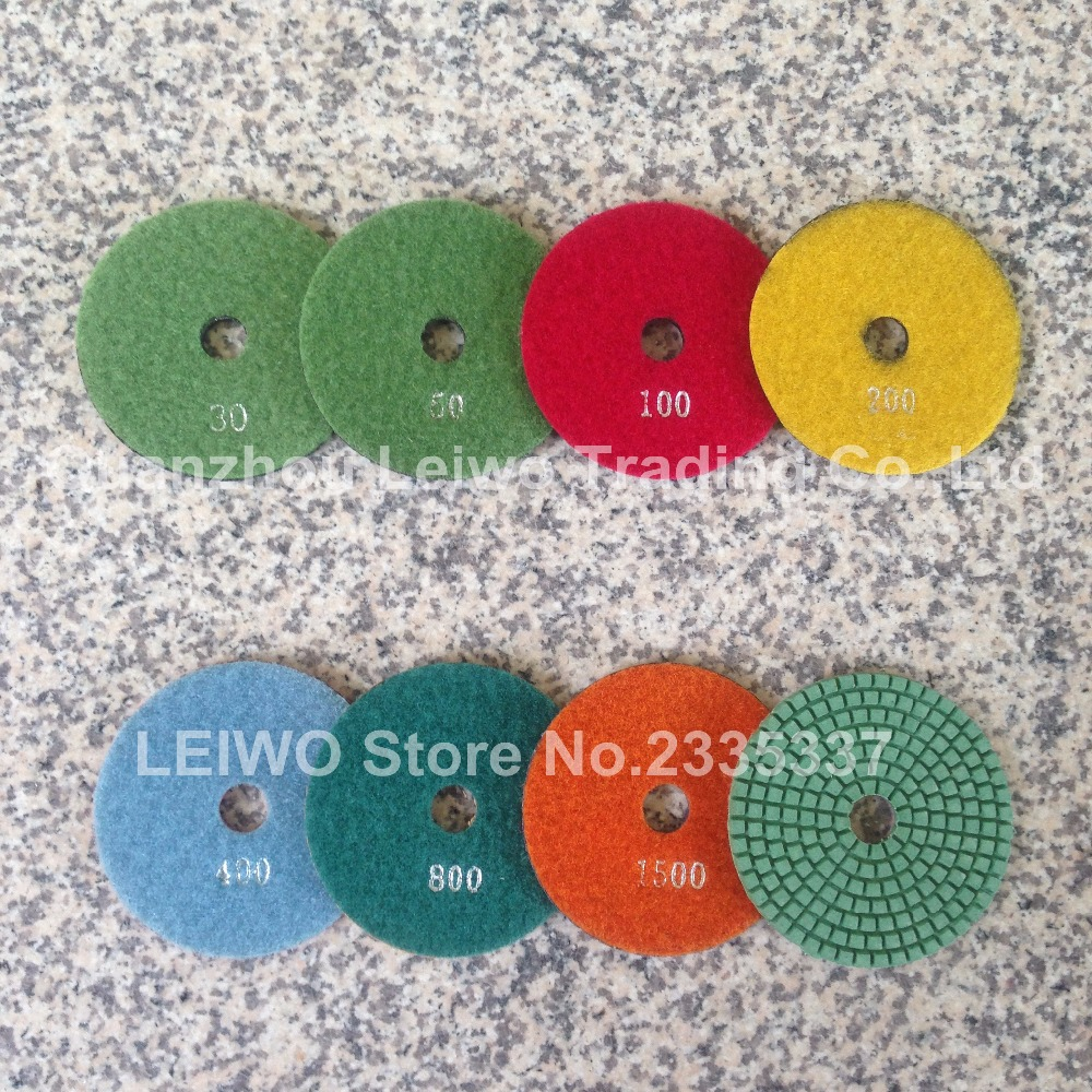 7 Inch Diamond Polishing Pads 8 Piece Granite Concrete Stone Marble Floor tile