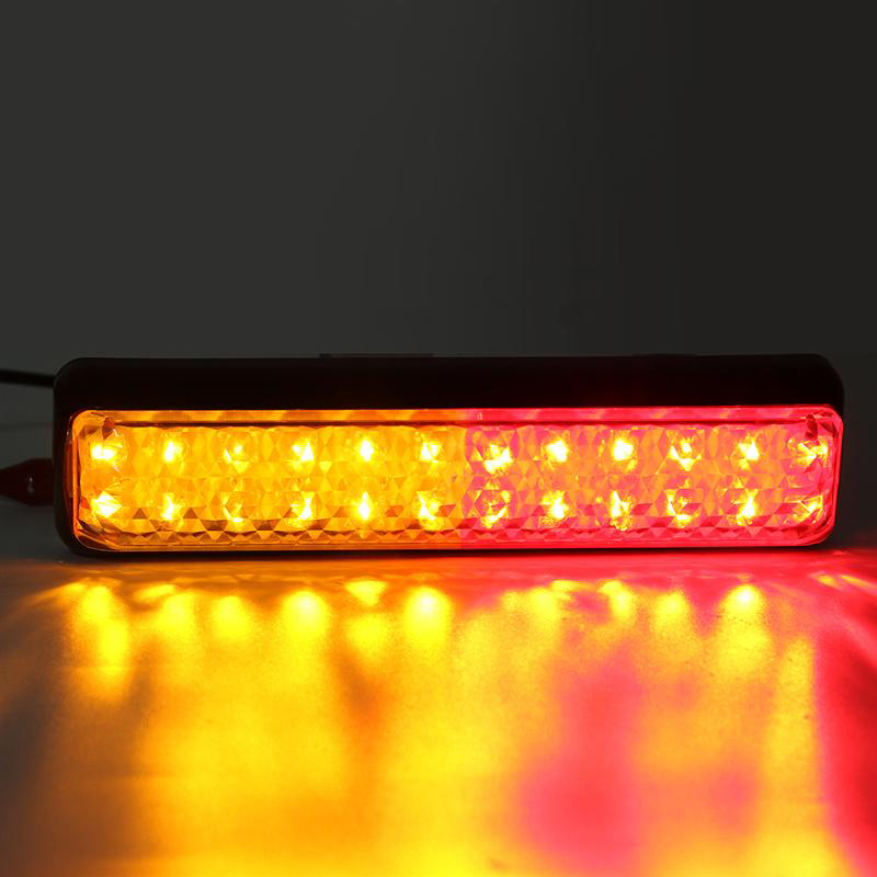 2Pcs 24LED Car LED Tail Lights Stop Turn Signal Lamp for 12V 24V Automobiles Truck Trailer Lorry Red Yellow in Car Light Assembly from Automobiles Motorcycles