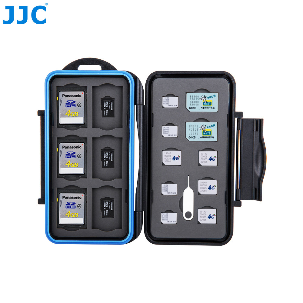 Us 9 49 5 Off Jjc Memory Card Case Sim Micro Nano Sd Sdhc Tfstorage For Iphone 8 Plus X 7 6 Cards Water Resistant Box In Camera Video