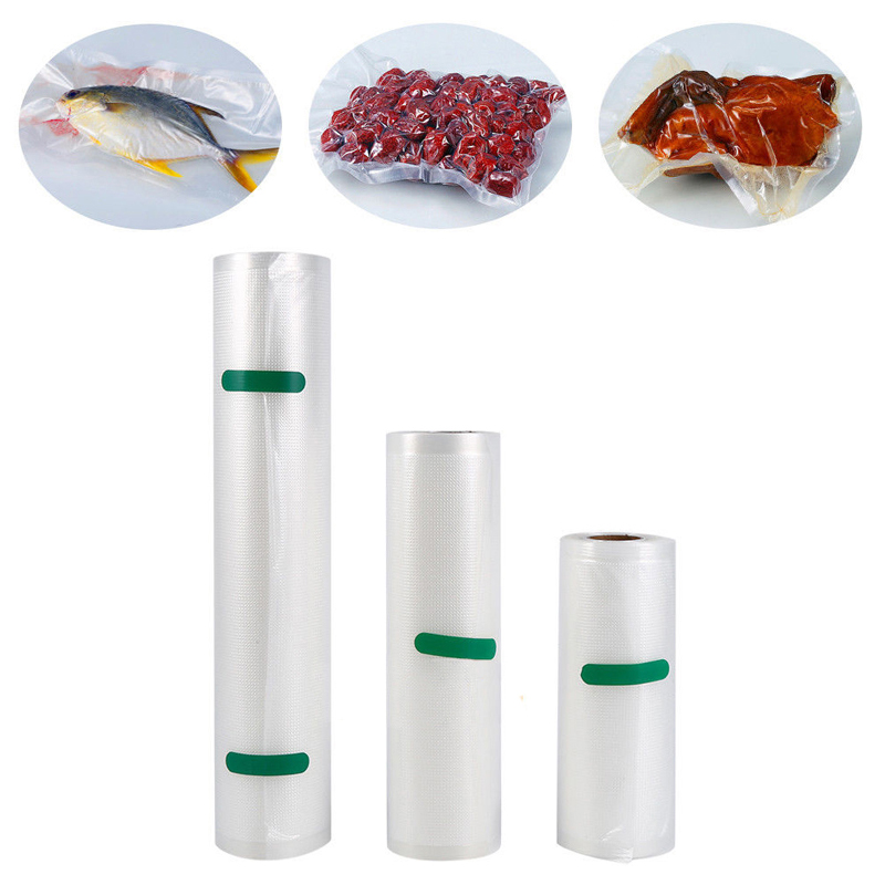 Roll Vacuum Bag Food Sealer Saver Bag Vlees Groente Fruit Keep Fresh Kitchen Vacuümzakken Wrapper Verpakking Opbergtas 4 maten