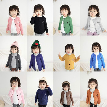Children Sweaters New Spring Cartoon Baby Boys Girls Sweaters Cardigans Toddlers Knitwear Baby Sweater Kids Tops Clothes CA601