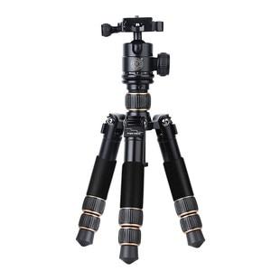 Image 3 - QZSD Q166C Mini Professional Carbon Fiber Camera Tripod Extendable Travel Video Tripod with Ball Head and Quick Release Plate