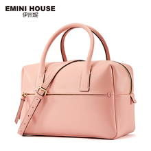 EMINI HOUSE Split Leather Women Handbag Trunk Women Messager Bags High Capacity Shoulder Bag Simple Style