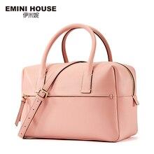 Emini house dividida tronco mujeres messager bolsas de cuero bolso de las mujeres de alta capacidad de hombro bolsa de estilo simple bolsa de boston