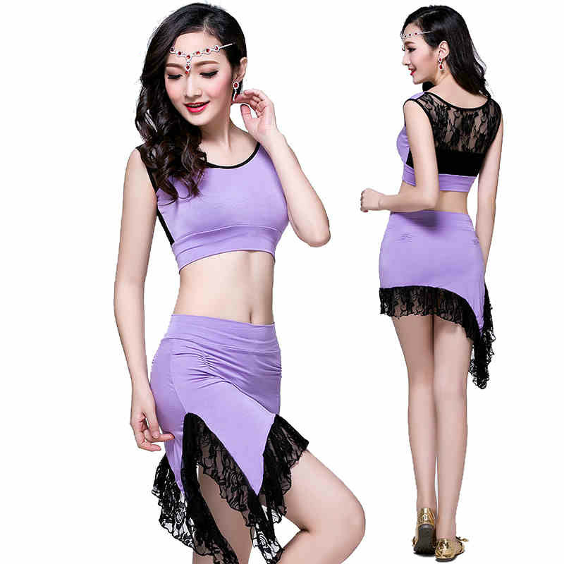 2017 Promotion Belly Dance Belly Dance Dancing Women Costume Comfortable Set Leotard And New Female Clothing Modal Lace Suit