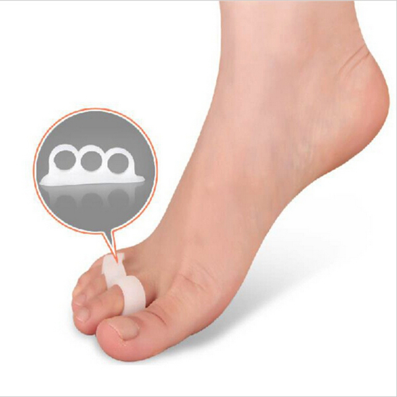 Feet care soft silicon gel separator toe <font><b>crest</b></font> for Hammer toes distorted orthopedic Straightening high heel <font><b>shoes</b></font> correction