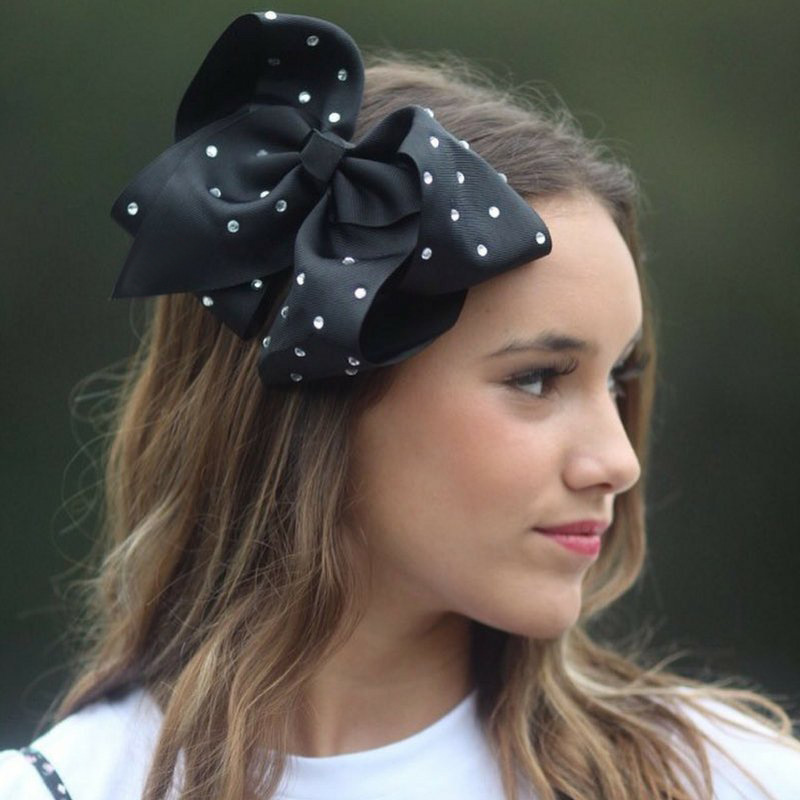 Handmade jojo Bows Girl Large Bows Bow-knot Print Hair   Headwear   Fashion Solid With Clip Kids Hair Accessory