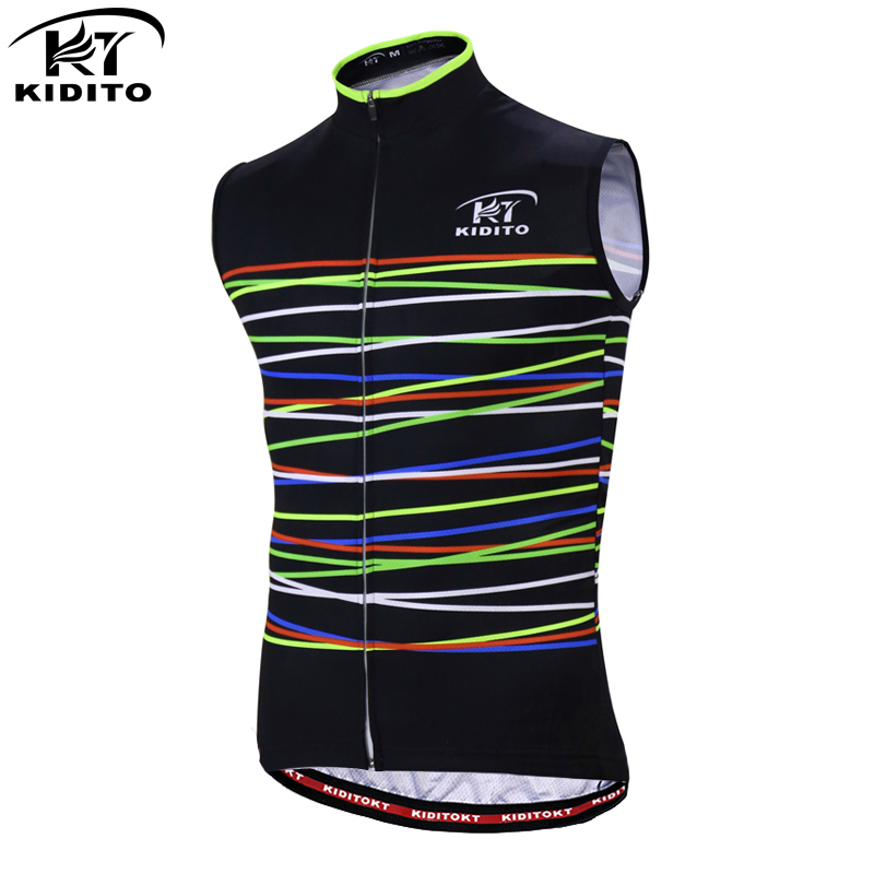 KIDITOKT Pro Sleeveless Quick-Dry Cycling Vests Breathable MTB Bicycle Clothing Cycling Mountain Bike Clothes Cycling Jersey