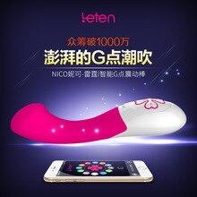 Leten Смартфон App Дистанционного Управления Николь G-Spot Вибраторы Подключение Bluetooth Водонепроницаемый секс-игрушки для женщин