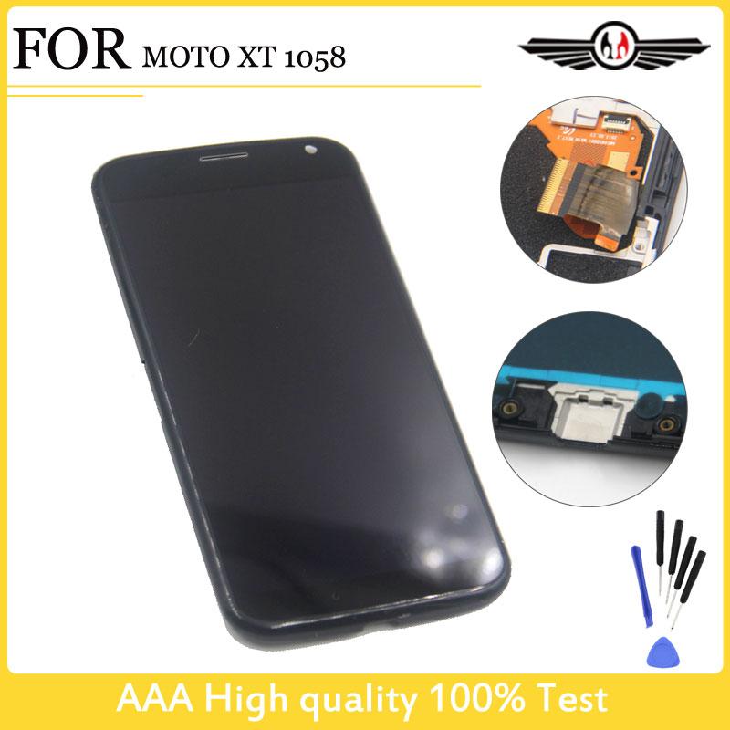 Prix pour 100% Testé Pour Motorola Pour Moto X XT1052 XT1053 XT1056 XT1058 XT1060 Écran LCD Affichage Tactile Digitizer Assemblée + Cadre Nouveau